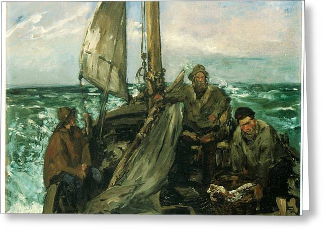 Sea Going Greeting Cards - Toilers of the Sea Greeting Card by Edouard Manet