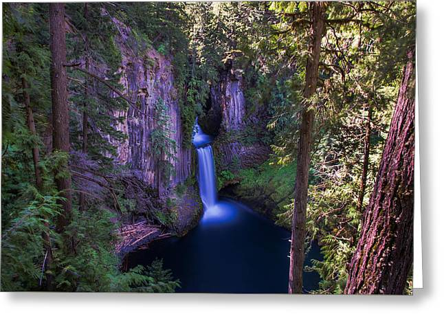 Nature Greeting Cards - Tokatee Falls Oregon Greeting Card by Scott McGuire
