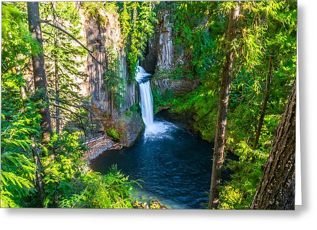 Watson Lake Greeting Cards - Toketee waterfalls Greeting Card by Asif Islam