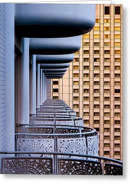 Tokyo Balconies Greeting Card by Jay Heiser