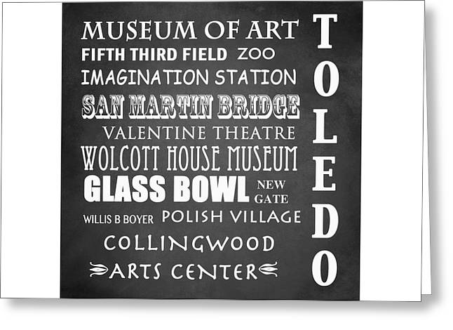Polish American Digital Greeting Cards - Toledo Famous Landmarks Greeting Card by Patricia Lintner