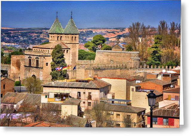Castilla Greeting Cards - Toledo Town View Greeting Card by Joan Carroll