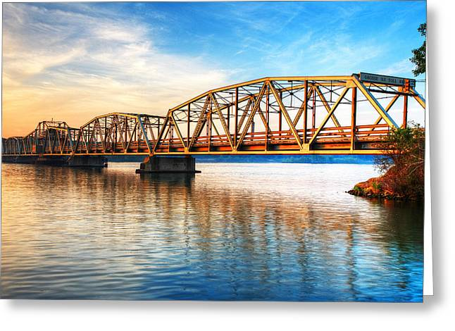 Jmp Photography Greeting Cards - Toll Bridge Sunrise Greeting Card by James Marvin Phelps