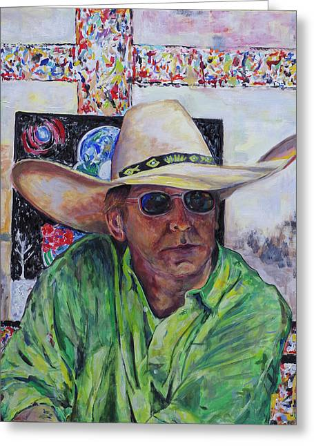 Toller Cranston In Cowboy Hat Greeting Card by Andrew Osta