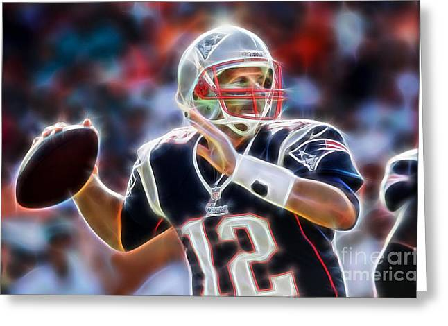 Cool Greeting Cards - Tom Brady Collection Greeting Card by Marvin Blaine