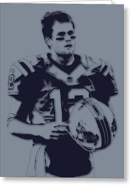 New England Patriots Greeting Cards - Tom Brady Patriots 2 Greeting Card by Joe Hamilton