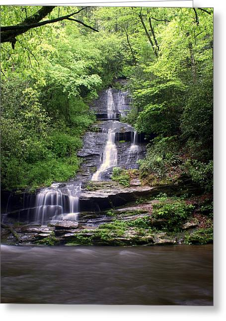 Marty Koch Photographs Greeting Cards - Tom Branch Falls Greeting Card by Marty Koch