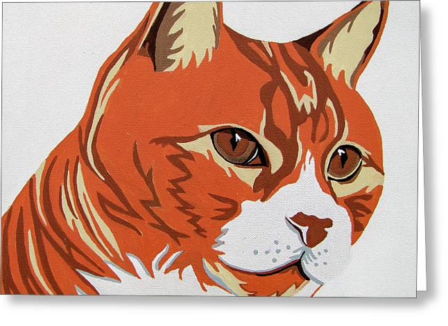 Tom Cat Greeting Card by Slade Roberts