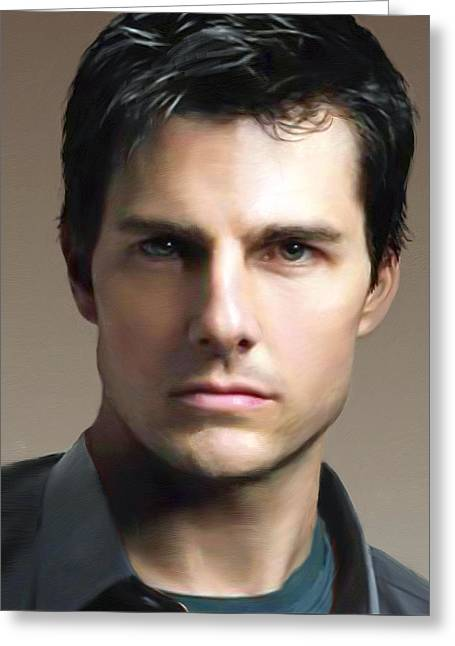 Tom Cruise Greeting Card by Dominique Amendola