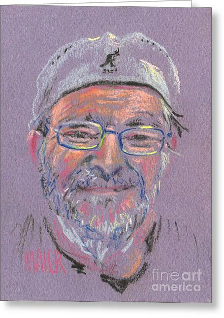 Pastel Portrait Greeting Cards - Tom Greeting Card by Donald Maier
