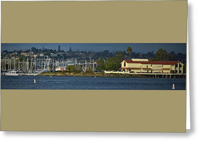 Docked Boats Greeting Cards - Tom Hams Lighthouse San Diego Greeting Card by See My  Photos
