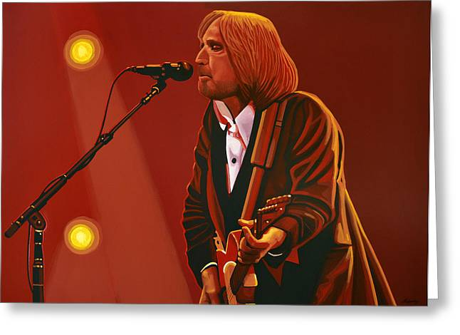 Roots Greeting Cards - Tom Petty Greeting Card by Paul Meijering
