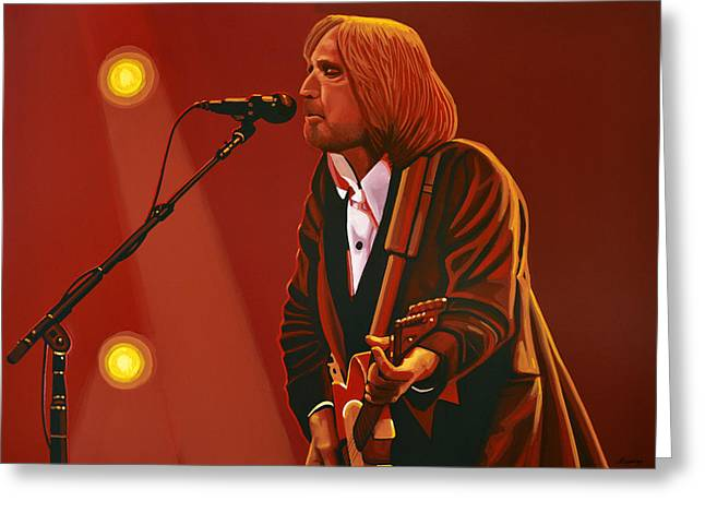 Rock And Roll Paintings Greeting Cards - Tom Petty Greeting Card by Paul Meijering