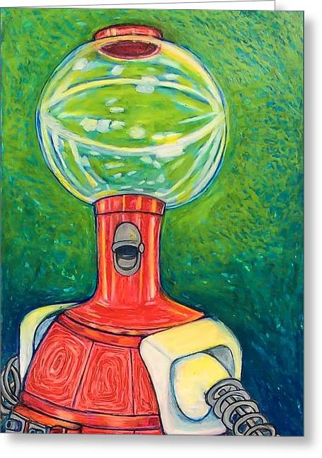 Outer Space Pastels Greeting Cards - Tom Servo Greeting Card by Jessica Ritenour