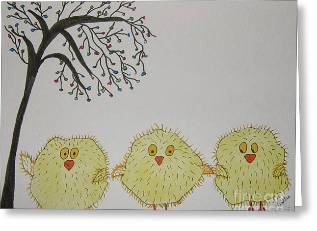 Marcia Weller-wenbert Greeting Cards - Tom Tad and Teddy Greeting Card by Marcia Weller-Wenbert