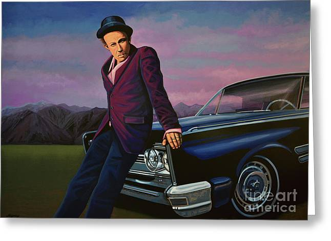 Tom Waits Greeting Card by Paul Meijering