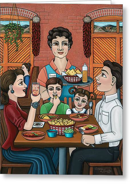 Tomasitas Restaurant Greeting Card by Victoria De Almeida