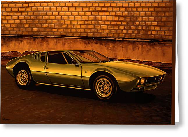 Tomaso Mangusta Mixed Media Greeting Card by Paul Meijering
