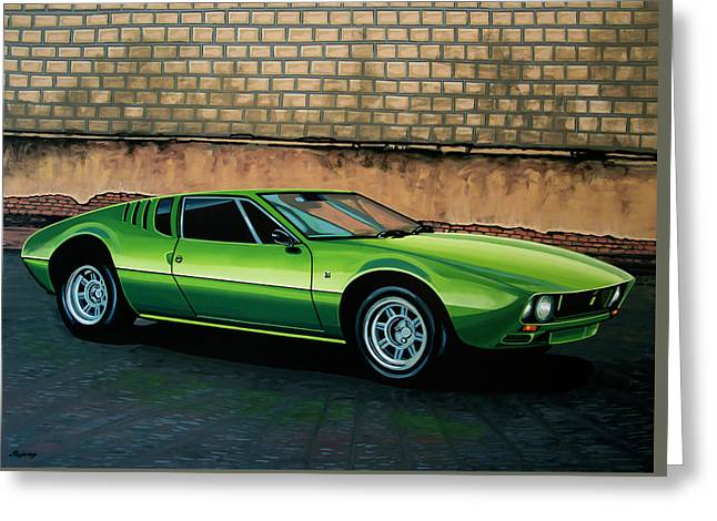 Tomaso Mangusta 1967 Painting Greeting Card by Paul Meijering