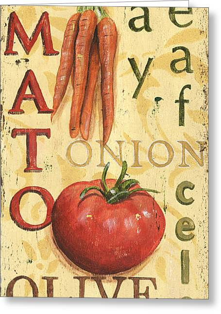 Brown Leaves Greeting Cards - Tomato Soup Greeting Card by Debbie DeWitt