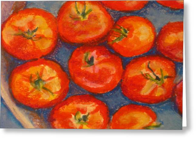 Tomato Pastels Greeting Cards - Tomatoes Greeting Card by Constance Gehring