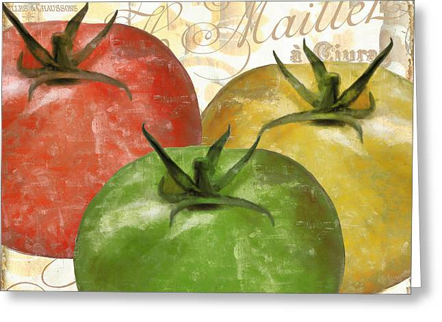 Tomato Greeting Cards - Tomatoes Tomates Greeting Card by Mindy Sommers