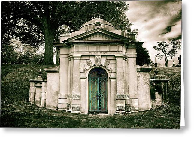Tomb Of Woodlawn Greeting Card by Jessica Jenney