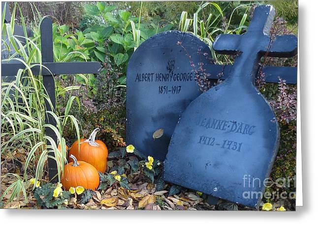 Festivities Greeting Cards - Tombes // Halloween // Gravestones Greeting Card by Dominique Fortier