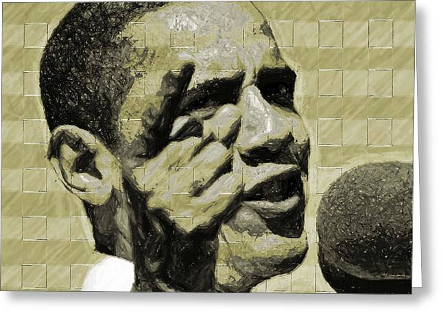 Barack Digital Art Greeting Cards - Tomorrows Hope Greeting Card by LeeAnn Alexander