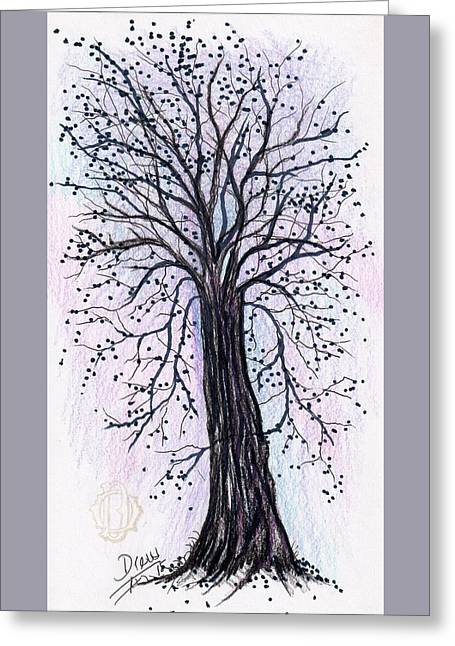 Bare Trees Drawings Greeting Cards - Tomorrows Promise  Greeting Card by Drew O