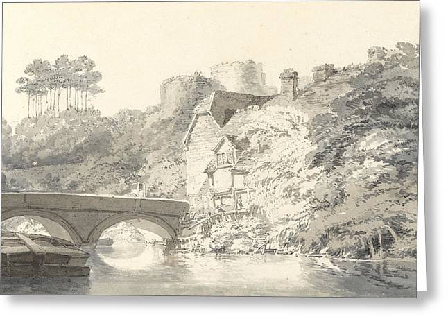 Tonbridge Castle Greeting Card by Joseph Mallord William Turner