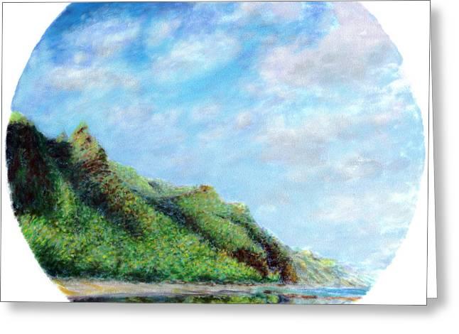 Coastal Decor Pastels Greeting Cards - Tondo Greeting Card by Kenneth Grzesik
