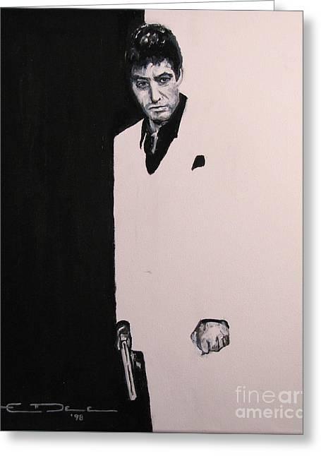 Al Pacino Greeting Cards - Tony Montana - Scarface Greeting Card by Eric Dee