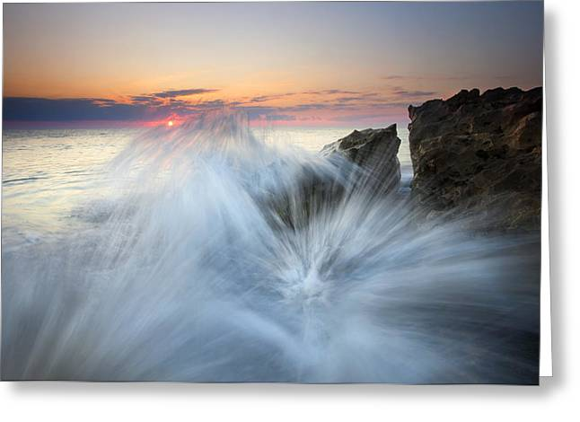 Explosion Photographs Greeting Cards - Too Close for Comfort Greeting Card by Mike  Dawson