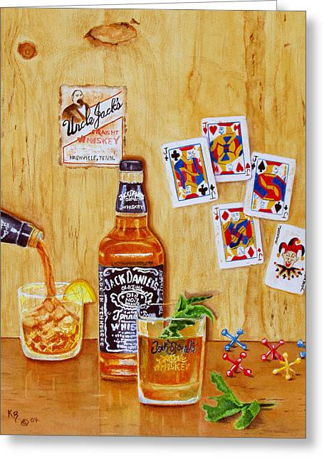 Daniel Paintings Greeting Cards - Too Many Jacks Greeting Card by Karen Fleschler