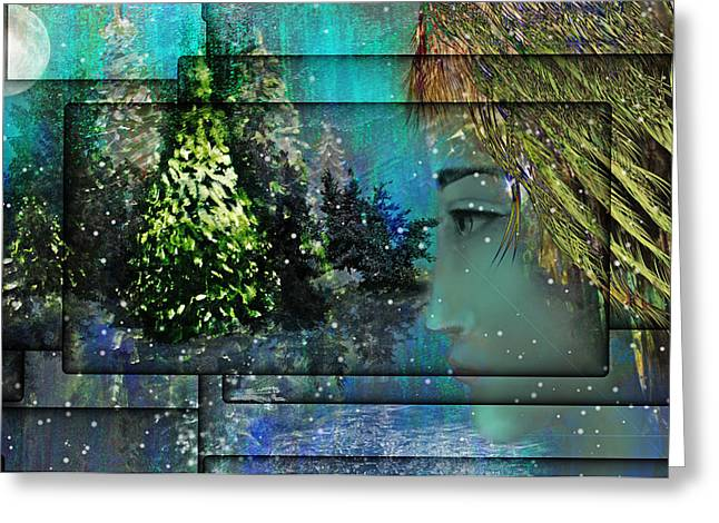 Intuitive Greeting Cards - Too Many Winters Abstract Greeting Card by Patricia Motley