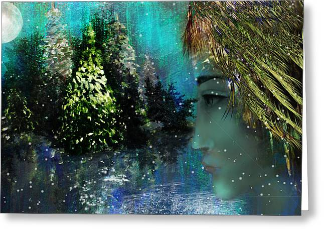 Intuitive Greeting Cards - Too Many Winters IV  Greeting Card by Patricia Motley