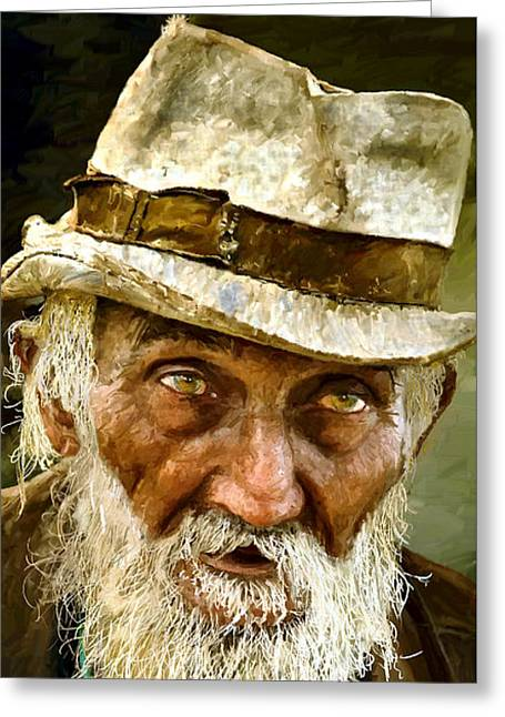 Old Man Digital Greeting Cards - Too old to die young now Greeting Card by James Shepherd
