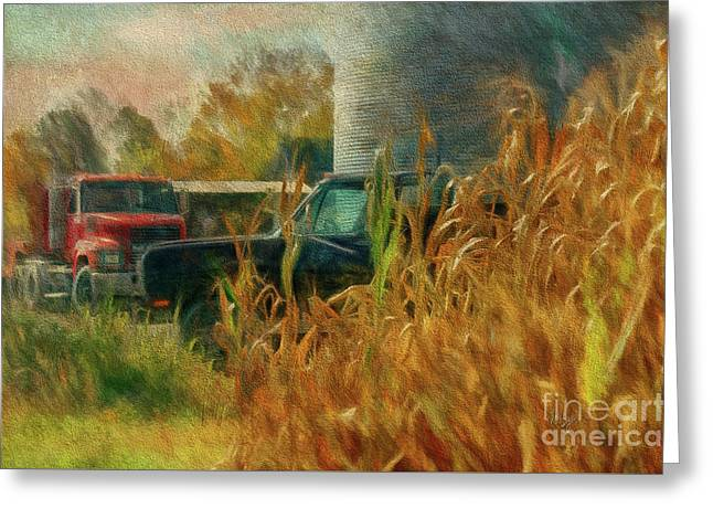 Truck Digital Greeting Cards - Tools Of The Trade Greeting Card by Lois Bryan