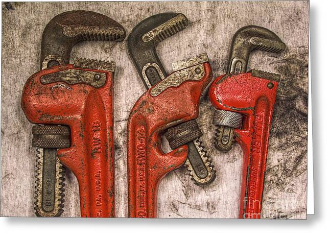 Plumbing Greeting Cards - Tools of the Trade Still Life Greeting Card by Randy Steele