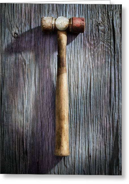 Hardware Greeting Cards - Tools On Wood 20 Greeting Card by Yo Pedro
