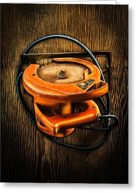 Tools On Wood 32 Greeting Card by YoPedro