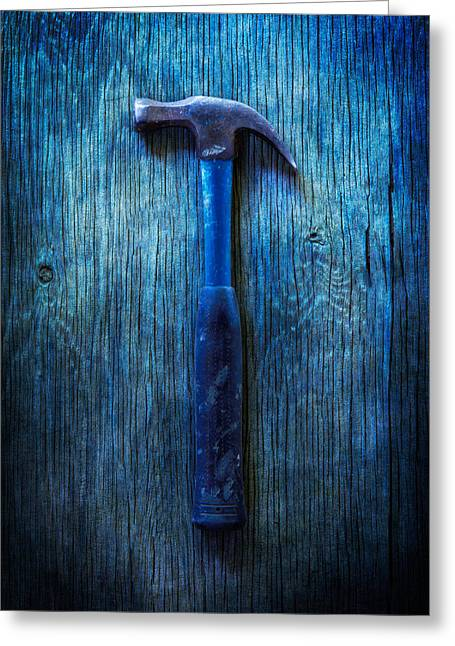 Tools On Wood 36 Greeting Card by YoPedro