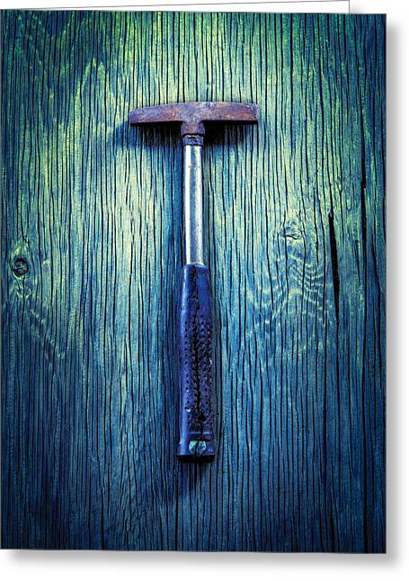 Tools On Wood 39 Greeting Card by YoPedro