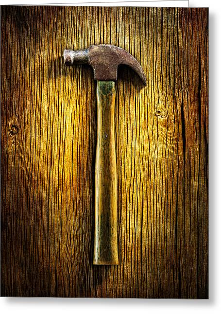 Tools On Wood 40 Greeting Card by YoPedro
