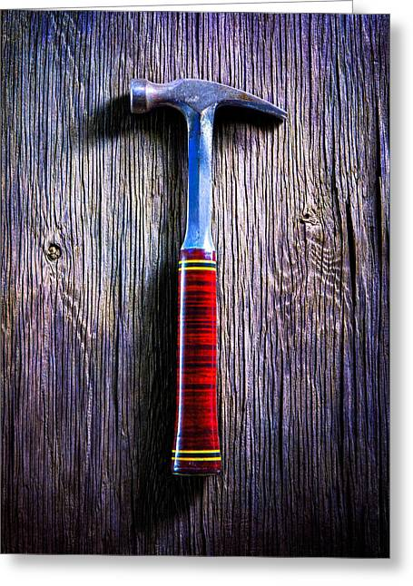 Tools On Wood 42 Greeting Card by YoPedro