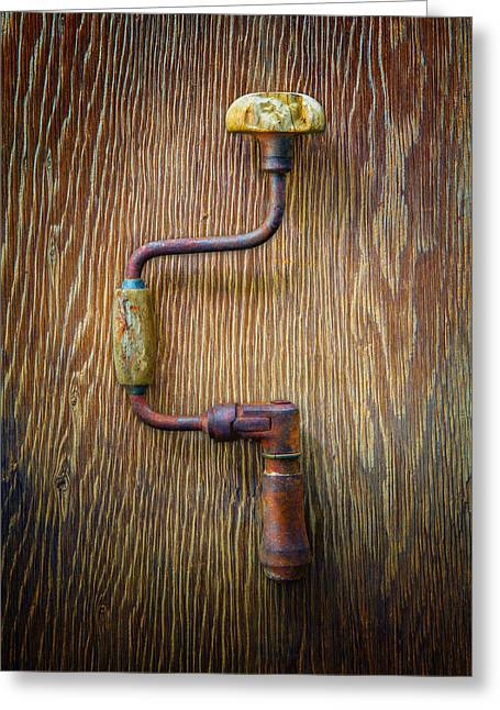 Tools On Wood 61 Greeting Card by YoPedro
