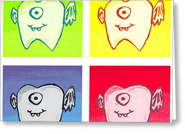 Tooth Fairies Greeting Card by Jera Sky
