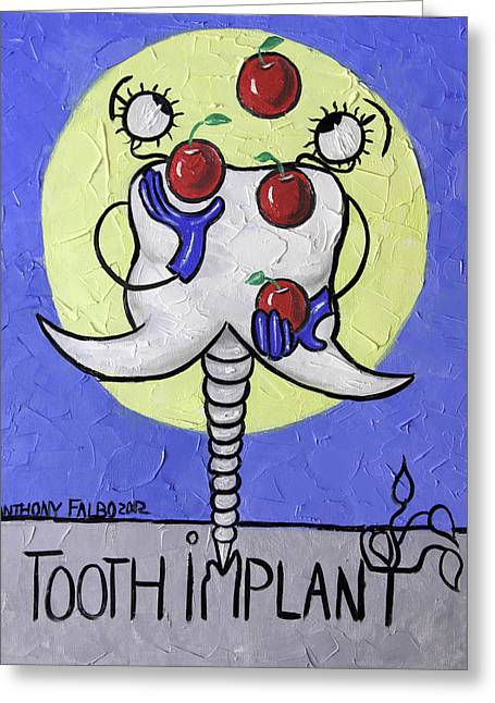 Tooth Implant  Greeting Card by Anthony Falbo