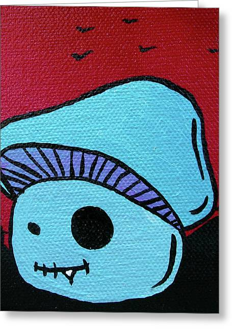 Toothed Zombie Mushroom 2 Greeting Card by Jera Sky